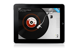 Nostalgic vinyl player for iPad